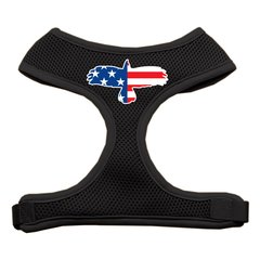 Dog Harnesses: Screen Print - EAGLE FLAG Soft Mesh Dog Harness in Several Sizes & Colors USA