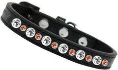 DOG COLLARS: Halloween Jewel Posh Dog or Cat Collar by Mirage Made in USA