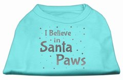 Dog Shirts: I BELIEVE IN SANTA PAWS Screen Print Dog Shirt in Various Colors & Sizes by Mirage