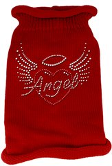 Dog Sweaters: Rhinestone ANGEL Acrylic Knit Dog Sweater in Variety of Colors & Sizes - Mirage