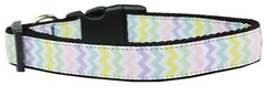Holiday Dog Collars: Nylon Ribbon Collar by Mirage Pet Products USA - SPRING CHEVRON