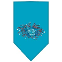 Dog Bandanas: Rhinestone Dog Bandana 'FIREWORKS' Different Colors Sizes Small or Large by Mirage USA