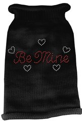 Dog Sweaters: Rhinestone BE MINE Acrylic Knit Dog Sweater in Different Colors & Sizes - Mirage