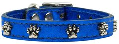 Leather Dog Collars: METALLIC Leather Dog Collar Mirage Pet Products USA - PAWS