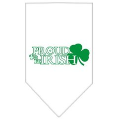 Dog Bandanas: Screen Print Cotton Dog Bandana 'PROUD TO BE IRISH' Different Colors in Small or Large by Mirage USA