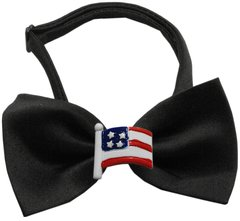 Dog Bow Ties: Chipper Patriotic Bow Tie with Choice of a Patriotic Decoration by Mirage