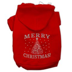 Dog Hoodies: MERRY CHRISTMAS Screened Print Dog Hoodie in Various Colors & Sizes by Mirage