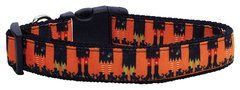 Holiday Nylon Dog Collars: Nylon Ribbon Collar by Mirage Pet Products - WITCHES BREW