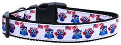 Patriotic Dog Collars: Nylon Ribbon Collar by Mirage Pet Products - AMERICAN OWLS