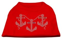 Dog Shirts: ANCHORS Rhinestone Dog Shirt in Various Colors & Sizes by Mirage