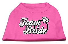 Dog Shirts: TEAM BRIDE Screen Print Dog Shirt in Various Colors & Sizes by Mirage