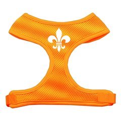 "Dog Harnesses: Screen Print - ""FLEUR DE LIS"" Soft Mesh Dog Harness in Several Sizes & Colors USA"