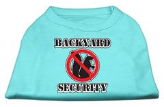 Dog Shirts: BACKYARD SECURITY Screen Print Dog Shirt in Various Colors & Sizes by Mirage