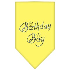 Dog Bandanas: Rhinestone Dog Bandana 'BIRTHDAY BOY' Different Colors Sizes Small or Large by Mirage USA