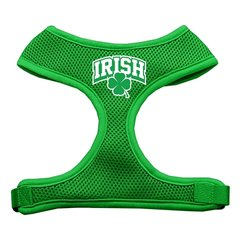 Dog Harnesses: Screen Print - IRISH ARCH Soft Mesh Dog Harness in Several Sizes & Colors USA