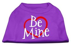 Dog Shirts: BE MINE Screen Print Dog Shirt in Various Colors & Sizes by Mirage