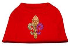 Dog Shirts: MARDI GRAS FLEUR DE LIS Rhinestone Dog Shirt in Various Colors & Sizes by Mirage