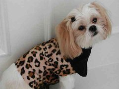 Dog Vests: Faux Fur Velboa Lined Vest by Alexis Creations Hand-made USA