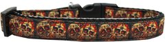 Holiday Nylon Dog Collars: Nylon Ribbon Collar by Mirage Pet Products - SKULLS CROSSED LOVERS
