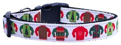 Holiday Nylon Dog Collars: Nylon Ribbon Collar by Mirage Pet Products - UGLY SWEATER
