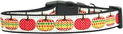 Holiday Nylon Dog Collars: Nylon Ribbon Collar Mirage Pet Products - PRETTY PUMPKINS