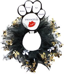 Smoochers Dog Collars: FLEUR DE LIS Smoocher / Scrunchie Dog Collar Mirage Pet Products