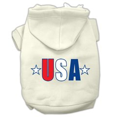 Dog Hoodies: Bright USA Screened Print Dog Hoodie by Mirage Pet Products USA