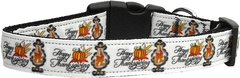 Dog Collars: Nylon Ribbon Dog Collar by Mirage Pet Products USA - HAPPY THANKSGIVING