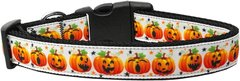 Holiday Nylon Dog Collars: Nylon Ribbon Collar by Mirage Pet Products - PUMPKIN PARADE
