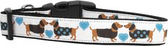 Holiday Dog Collars: Cute Nylon Ribbon Dog Collar USA - DOXIE LOVE