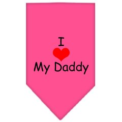Dog Bandanas: Screen Print Cotton Dog Bandana 'I HEART MY DADDY Different Colors in Small or Large by Mirage USA