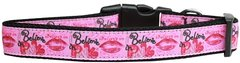 Dog Collars: Nylon Ribbon Collar by Mirage Pet Products USA - BELIEVE IN PINK
