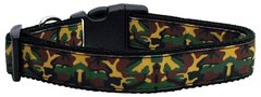 Dog Collars: Nylon Ribbon Collar by Mirage Pet Products USA - GREEN CAMO