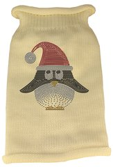 Dog Sweaters: Rhinestone SANTA PENGUIN Acrylic Knit Dog Sweater in Different Colors & Sizes - Mirage