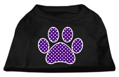 Dog Shirts: PURPLE SWISS DOT PAW Screen Print Dog Shirt in Various Colors & Sizes by Mirage