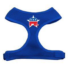 Dog Harnesses: Screen Print - REPUBLICAN Soft Mesh Dog Harness in Several Sizes & Colors USA