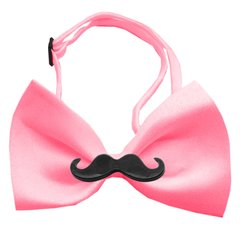Dog Bow Ties: Chipper Moustache Bow Tie available in Different Colored Bands by Mirage