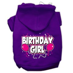Dog Hoodies: BIRTHDAY GIRL Screened Print Dog Hoodie by Mirage Pet Products USA