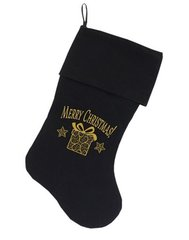 Dog Christmas Stockings: Golden Christmas Present - Christmas Dog Stocking