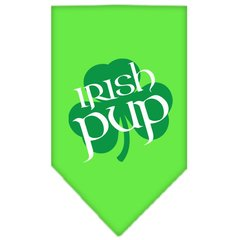 Dog Bandanas: Screen Print Cotton Dog Bandana 'IRISH PUP' Different Colors in Small or Large by Mirage USA