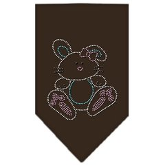 Dog Bandanas: Rhinestone Dog Bandana 'BUNNY' Different Colors Sizes Small or Large by Mirage USA