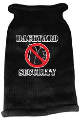 Dog Sweaters: Screen Print BACK YARD SECURITY Knit Dog Sweater in Different Colors & Sizes - Mirage