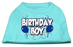 Dog Shirts: BIRTHDAY BOY Screen Print Dog Shirt in Various Colors & Sizes by Mirage