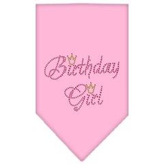 Dog Bandanas: Rhinestone Dog Bandana 'BIRTHDAY GIRL' Different Colors Sizes Small or Large by Mirage USA