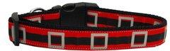 Holiday Dog Collars: Nylon Ribbon Collar by Mirage Pet Products USA - SANTA'S BELT