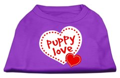 Dog Shirts: PUPPY LOVE Screen Print Dog Shirt in Various Colors & Sizes by Mirage