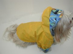 Dog Raincoats: Nylon Reinforced Dog Raincoat with FLANNEL LINING