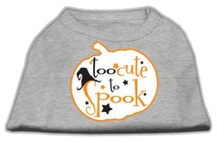 Dog Shirts: TOO CUTE TO SPOOK Screen Print Dog Shirt in Various Colors & Sizes by Mirage