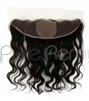 Free Shipping Frontal Virgin Peruvian Hair Lace Frontal Closure 13X4 Body Wave with Bleached Knots Natural Hair Color