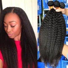 7A Brazilian Virgin Kinky Straight 100% Human Hair Brazilian yaki Straight Hair